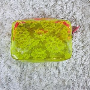 Victoria's Secret Pink Yellow Makeup Bag